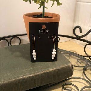 NWT- J. Crew pearl hook earrings